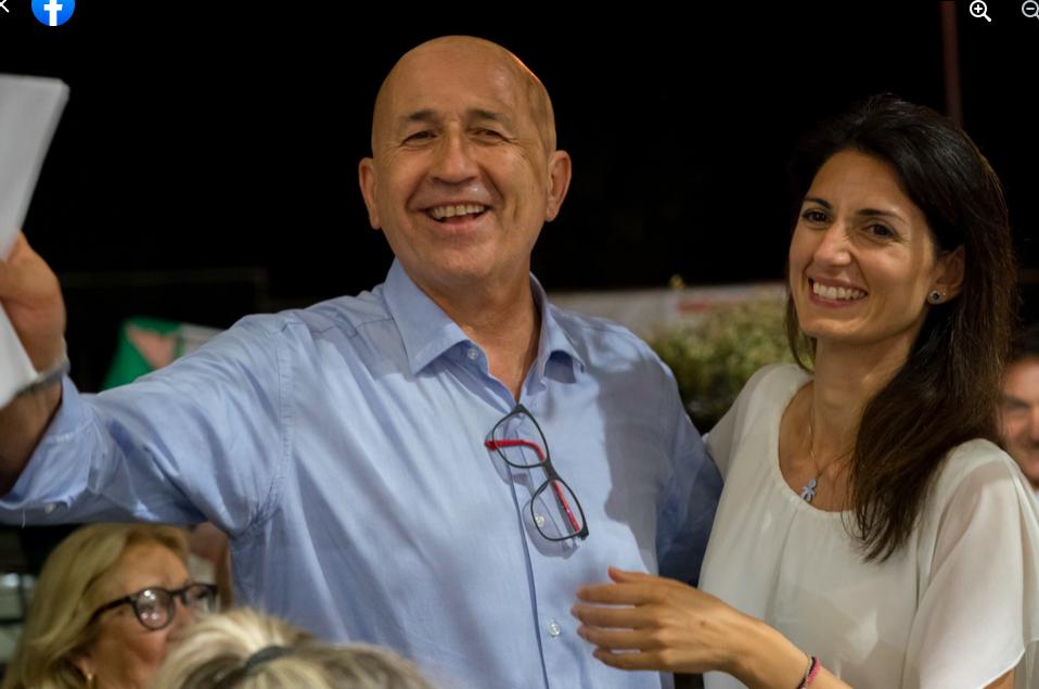 Gabriele Lanzi e virginia raggi