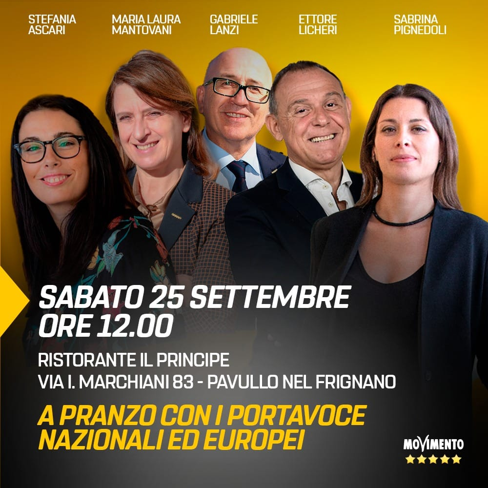 PRANZO A PAVULLO CON I PORTAVOCE M5S NAZIONALI ED EUROPEI
